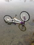 dirtbike in pond